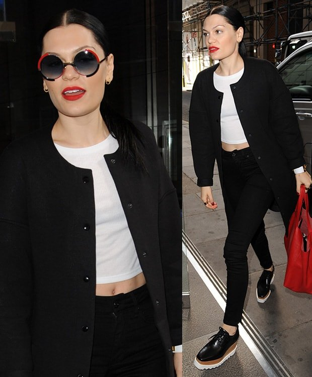 Jessie J at Kiss FM in London, England, on August 13, 2014