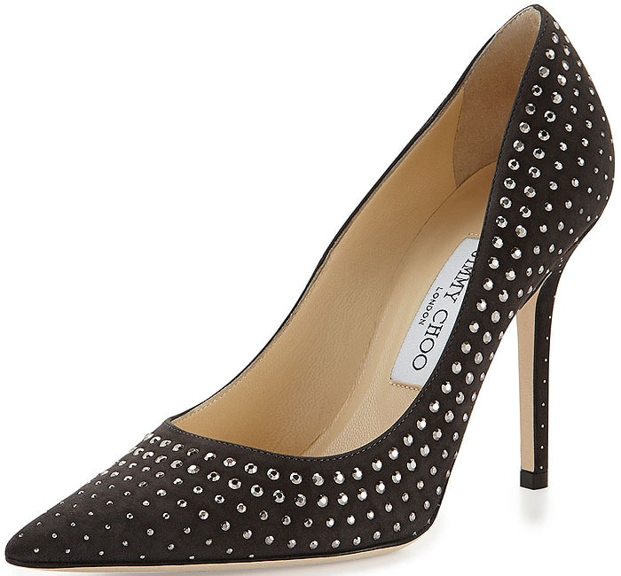 "Jimmy Choo ""Abel"" Studded Suede Pumps"