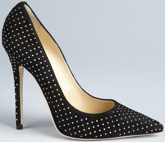 "Jimmy Choo ""Anouk"" Studded Suede Pumps"