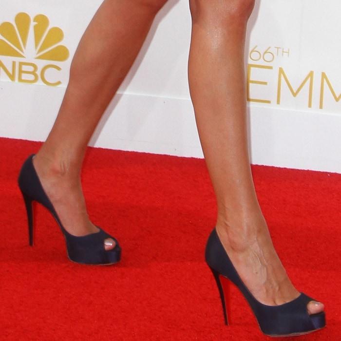 Kirsten Dunst Rock Vendome Peep-Toe Pumps