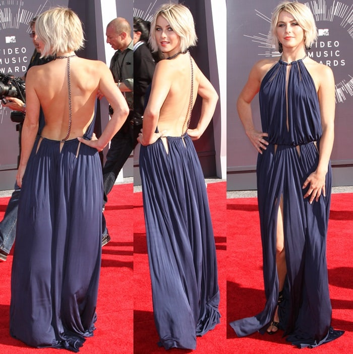 Julianne Hough'shalter cutout dress from the Emilio Pucci Fall 2014 collection