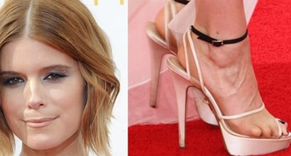 """136fabb04ed9 Kate Mara in J. Mendel Gown and Charlotte Olympia """"Pomeline"""" Sandals"""