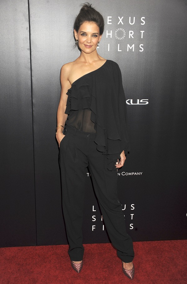 Katie Holmes at the 2nd Annual Lexus Short Films' premiere of 'Life Is Amazing' held at the SVA Theatre in New York City on August 6, 2014