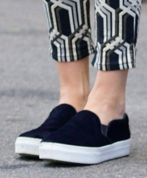Kendall Jenner's slip-on sneakers by Kenneth Cole