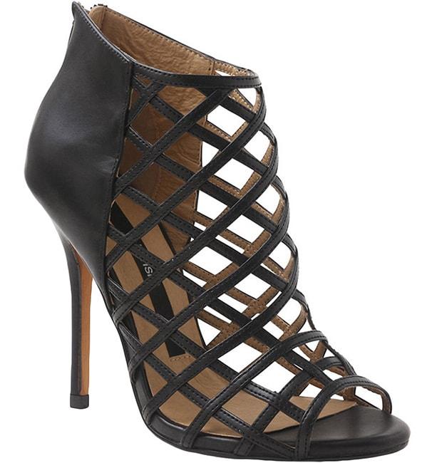 Kensie Biggie Caged Leather Dress Sandals