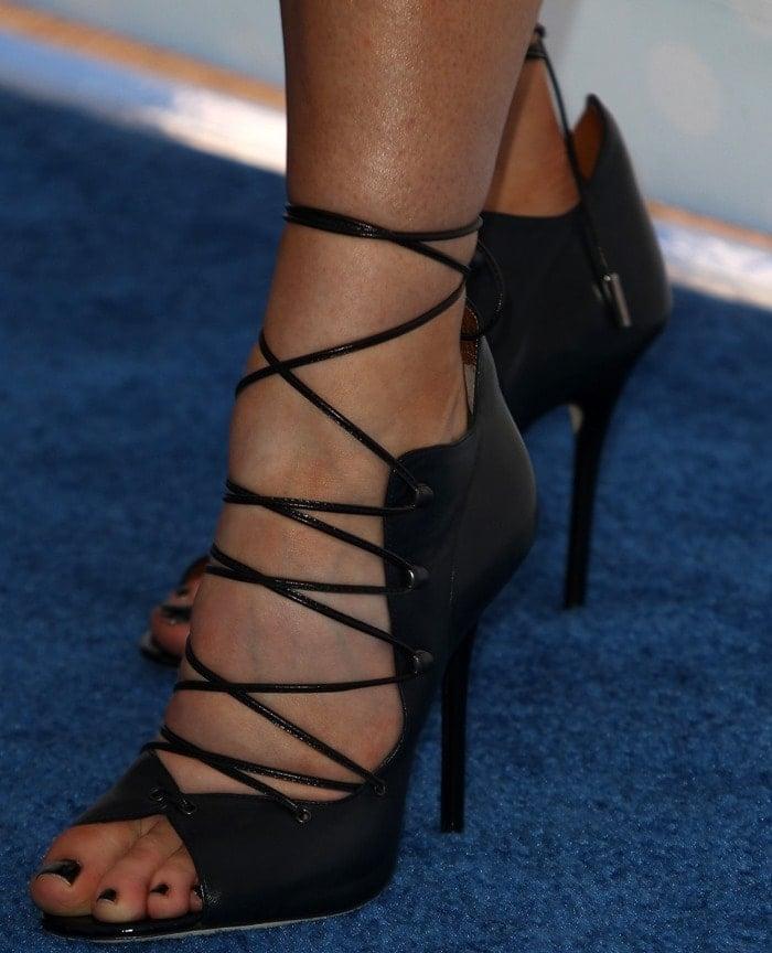 Kylie Jenner in Malone Souliers Savannah heels