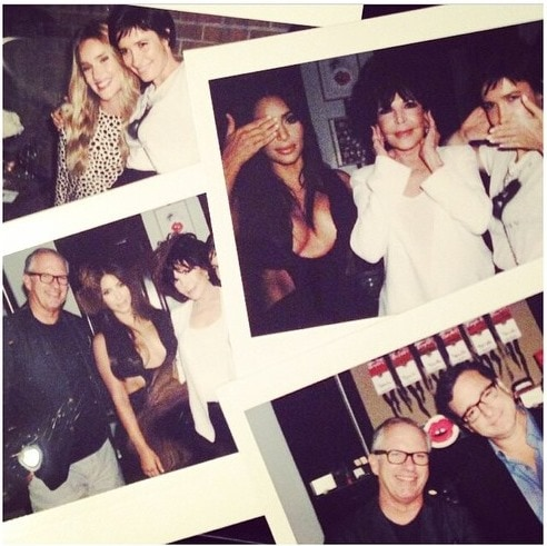 """Picture collage shared by Kim Kardashian with the caption """"About last night! #VioletGrey"""