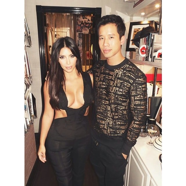 "Shared by Kim Kardashian with the caption ""Loved seeing you last night @jaredeng"