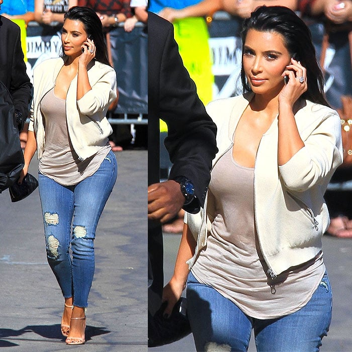 Kim Kardashian on her way to thelate-night talk show Jimmy Kimmel Live! in Hollywood, California, on August 4, 2014