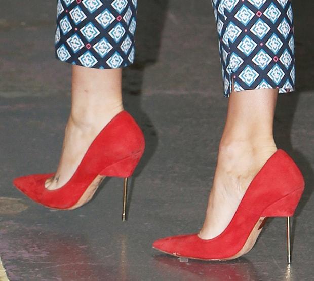 Laura Whitmore wearing Kurt Geiger London pumps