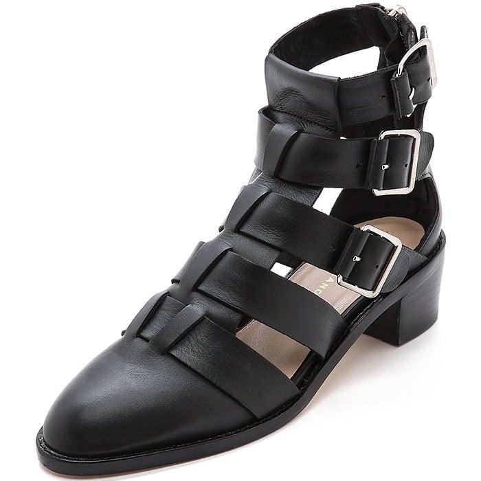 Loeffler Randall Yara buckled sandal booties