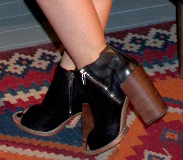 Lucy Hale wearing DV by Dolce Vita booties