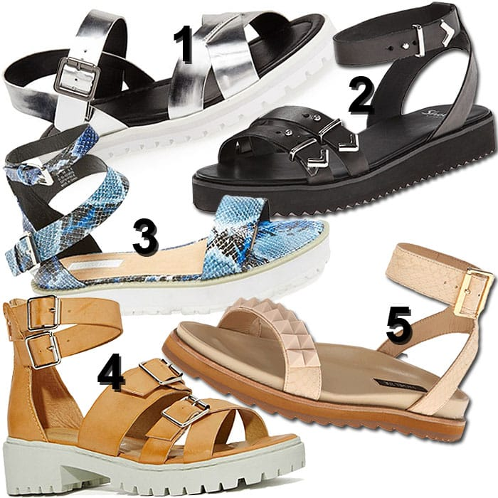 Lug sole sandals