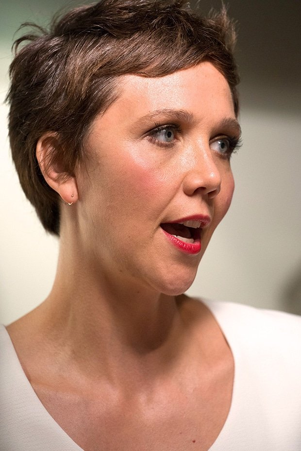 Maggie Gyllenhaal at the premiere of 'Frank' at Sunshine Landmark in New York City on August 5, 2014
