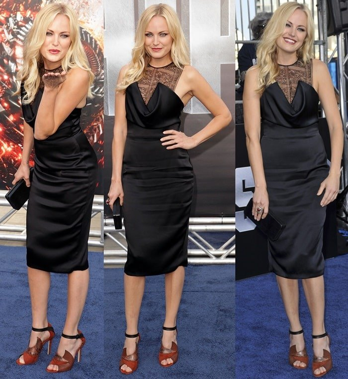 Malin Akerman at the Battleship premiere at the Nokia Theatre in Los Angeles on May 10, 2010