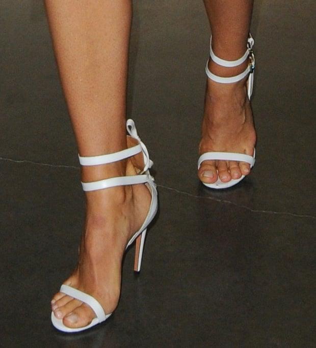 Maria Sharapova wearing Aquazzura sandals