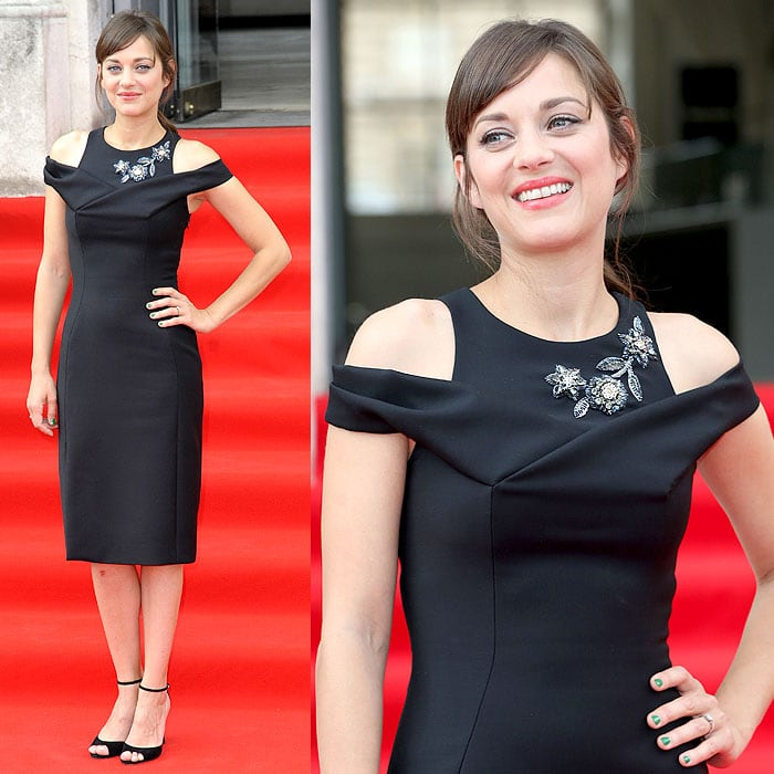 Marion Cotillard at the premiere of 'Two Days, One Night' held at the Somerset House in London, England, on August 7, 2014