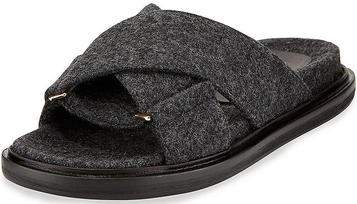 Marni Flannel Slide Sandals
