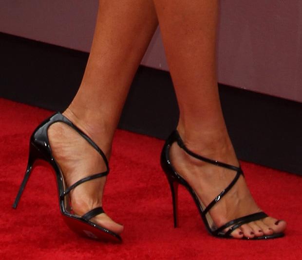 Megan Fox wearing Christian Louboutin sandals