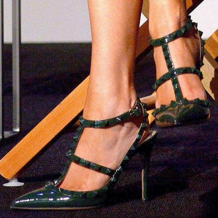 "Megan Fox's feet in Valentino ""Punkouture"" pumps"