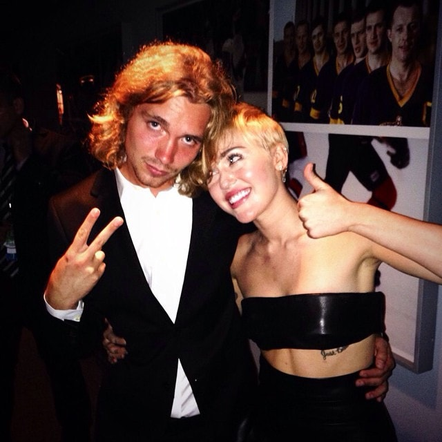 Miley Cyrus' Instagram pic of her and Jesse backstage at the 2014 MTV Video Music Awards - posted on August 25, 2014
