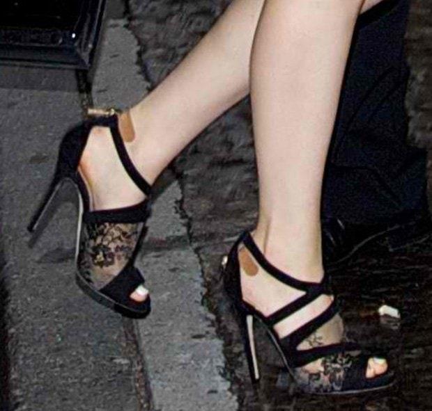 Odeya Rush wearing Jimmy Choo sandals