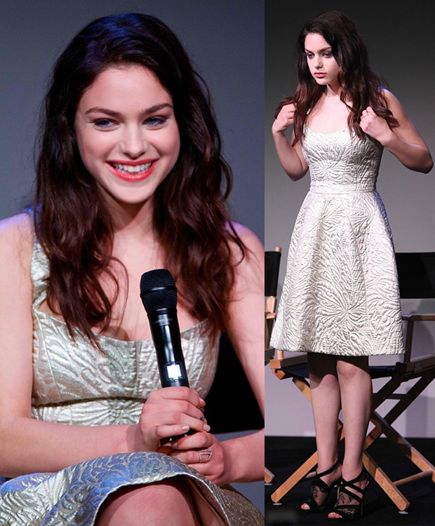 Odeya Rush at the Meet the Filmmakers event for her upcoming movie, 'The Giver', held at the Apple Store Soho in New York City on August 12, 2014