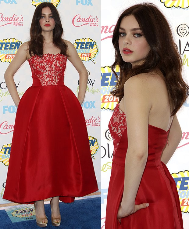 Odeya Rush at the Teen Choice Awards 2014 held at the Shrine Auditorium in Los Angeles on August 10, 2014