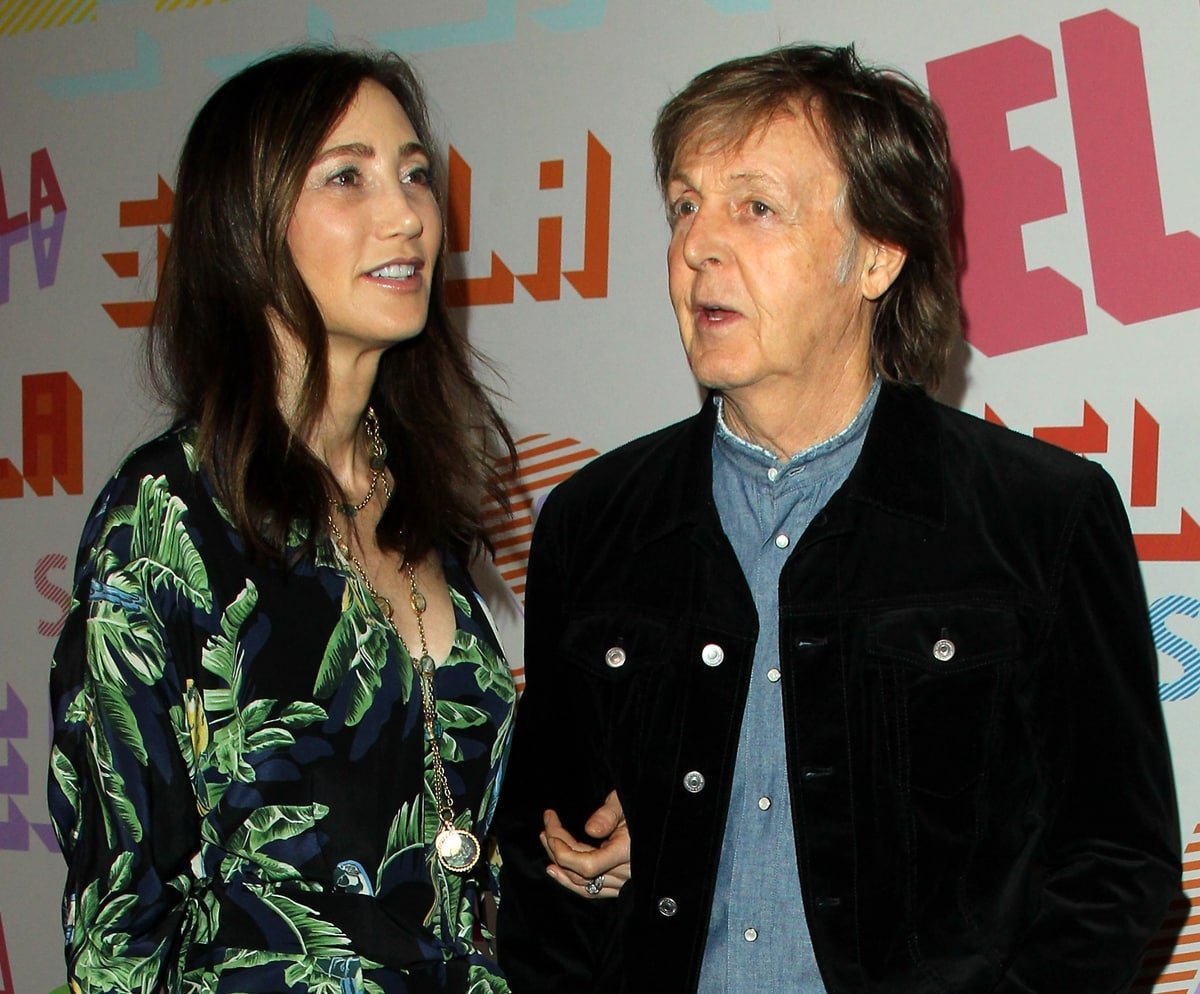 Paul McCartney and his wife Nancy Shevell arrive at the Stella McCartney's Autumn 2018 Collection Launch