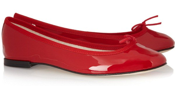 Repetto The Cendrillon Leather Ballet Flats Red