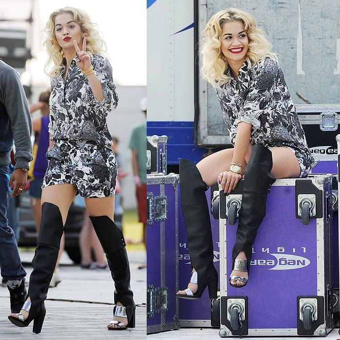 Rita Ora in 3 1 Phillip Lim Ora boots