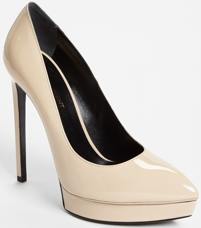 "Saint Laurent ""Janis"" Pumps in Light Beige"