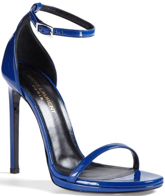 Saint Laurent 'Jane' Ankle Strap Leather Sandal