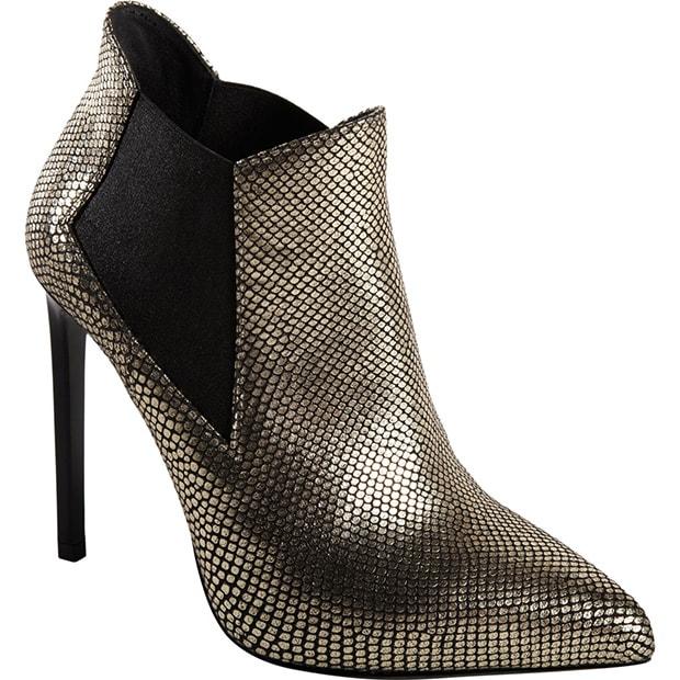 Saint Laurent Stamped 'Paris' Ankle Boots