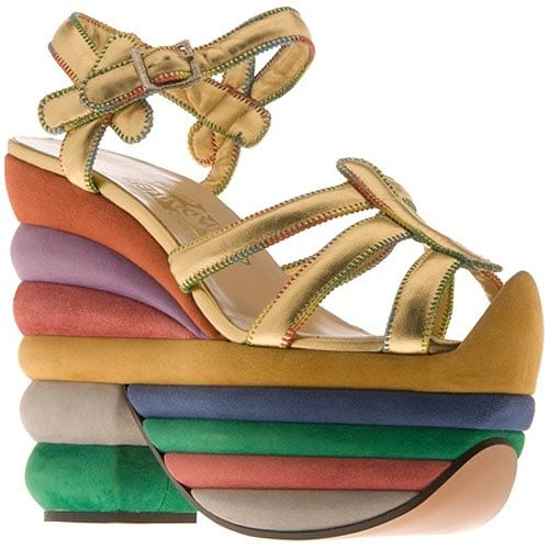 Salvatore Ferragamo Rainbow platform sandals