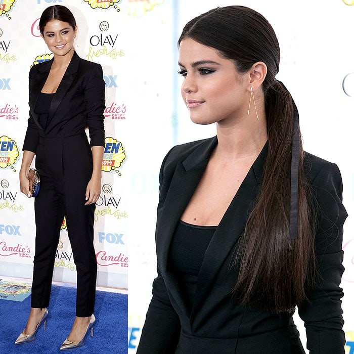 Selena Gomez at the 2014 Teen Choice Awards held at the Shrine Auditorium in Los Angeles, California, on August 10, 2014