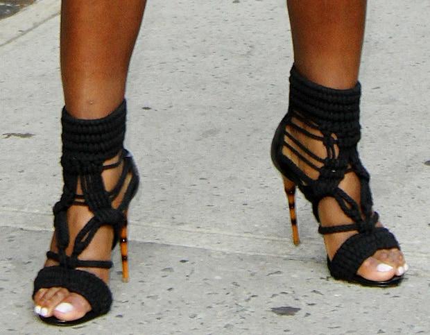 Serena Williams wearing Balmain sandals