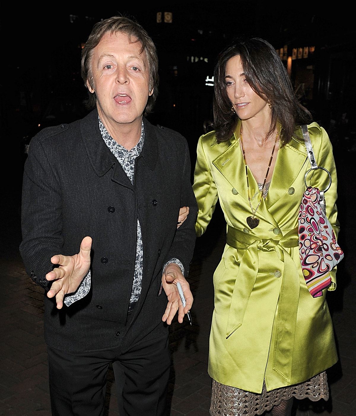Sir Paul McCartney and Nancy Shevell met through Barbara Walters, who is Nancy's cousin-once-removed