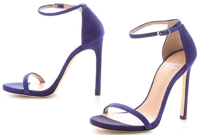 Stuart Weitzman Blue Nudist Single Band Sandals Ultramar