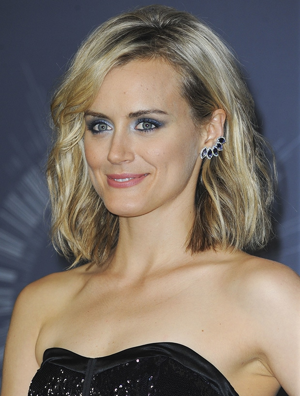 Taylor Schilling accessorized with Dana Rebecca Designs earrings