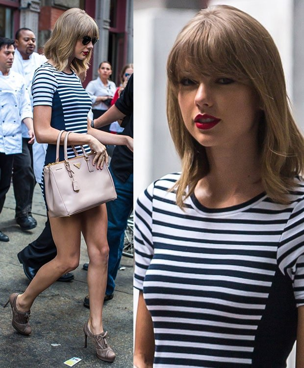 Taylor Swift heading to a studio in New York City on July 31, 2014