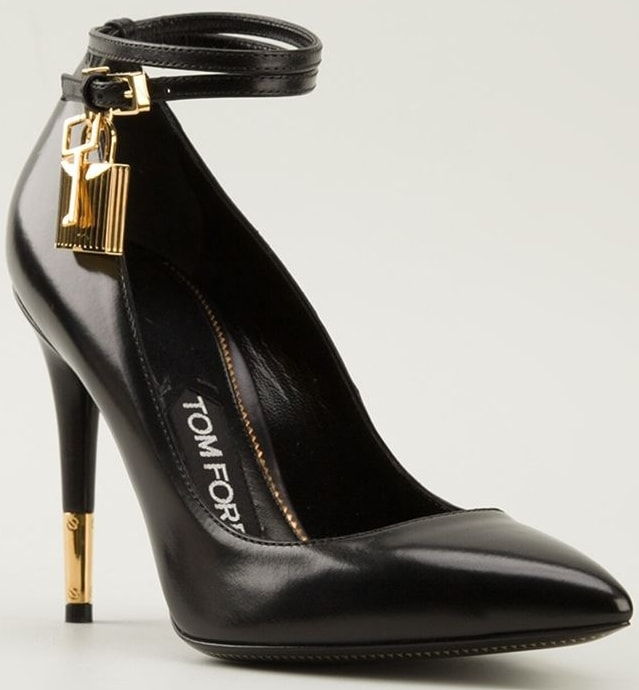 Tom Ford Black Padlock and Key Pumps