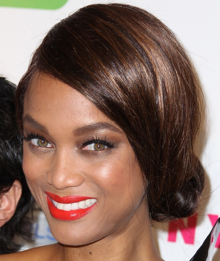 Tyra Banks at America's Next Top Model Cycle 21 premiere party presented by NYLON and LINE in Hollywood on August 20, 2014