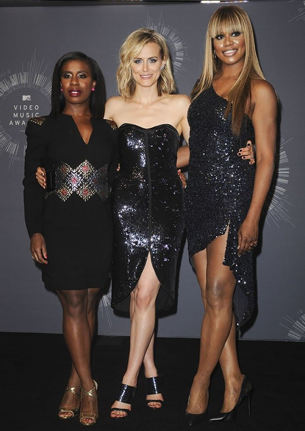 Taylor Schilling was joined by her co-stars Uzo Aduba and Laverne Cox