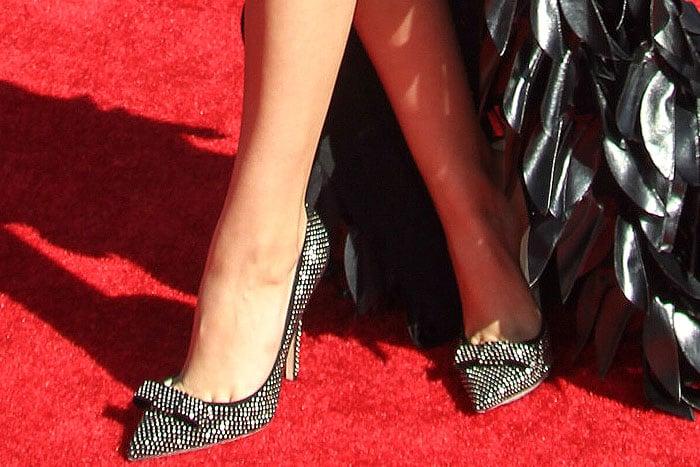 "Victoria Justice's feet in Jimmy Choo ""Maya"" pumps"