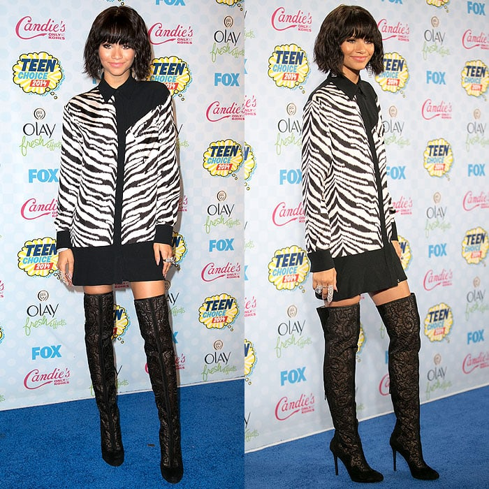 Zendaya later on changed into an Emanuel Ungaro outfit for the awards show proper