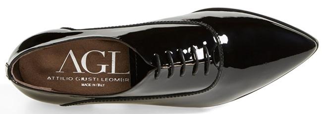 Attilio Giusti Leombruni Patent Pointy-Toe Oxford Shoes