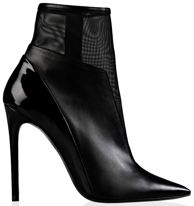 barbara bui mesh and leather ankle boots