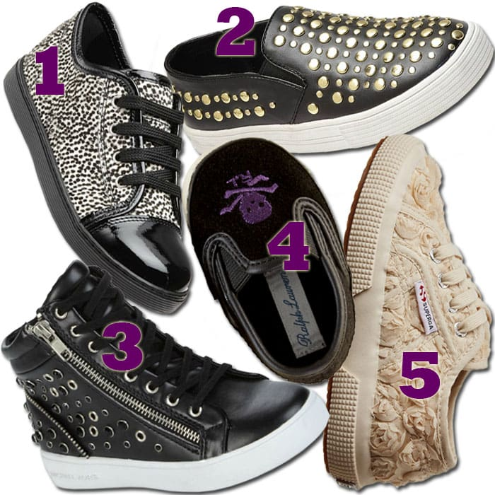 5 chic sneakers for girls