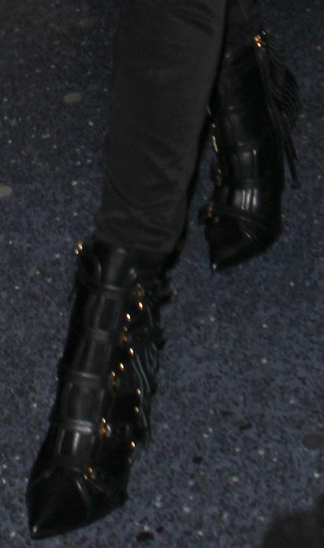 Heidi Klum in studdedGiuseppe Zanotti boots